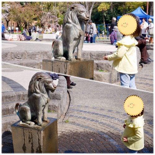 水が出る銅像