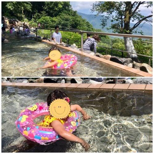 超絶景露天風呂で泳ぐ